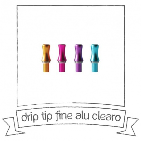 Drip tip Fine alu clearo