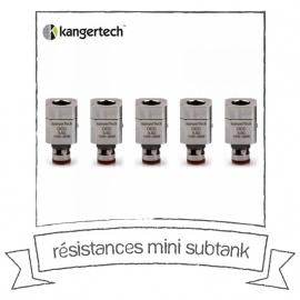 Résistances Mini Subtank Kanger