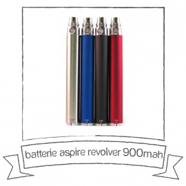 Batterie REVOLVER Twist - 900 mA/h Aspire
