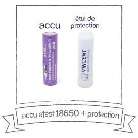 Batterie EFEST 18650 - 3500 mAh Purple 20A