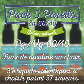 Pack 5 Pareils 60-40