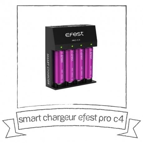 Smart chargeur Efest Pro C4