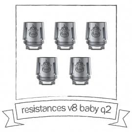 Résistances pour TFV8 Baby Q2 smok