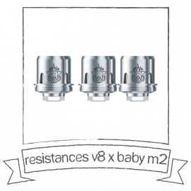 Résistances pour TFV8 Big Baby M2