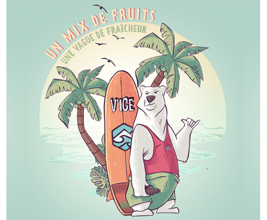 Un mix de fruits, une vague de fraîcheur ! Une gamme d'e-liquides signée VDLV