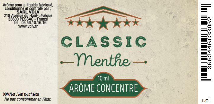 arome classic menthe
