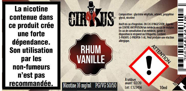 RHUM VANILLE 16